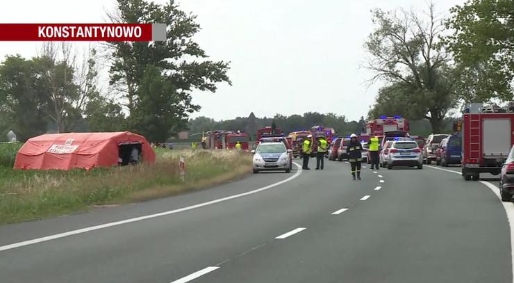 Awaria autobusu przyczyną wypadku w Kujawsko-Pomorskiem. Zginęły 2 osoby, 29 rannych