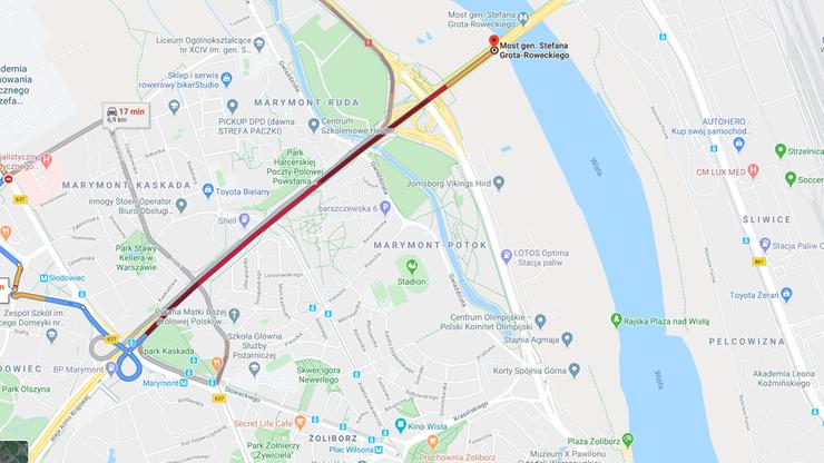 Wypadek autobusu w Warszawie. Gigantyczne korki