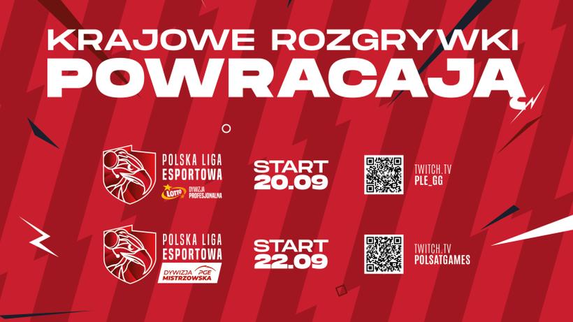 Inauguracja sezonu Polskiej Ligi Esportowej w CS: GO w środę 22 września w Polsat Games